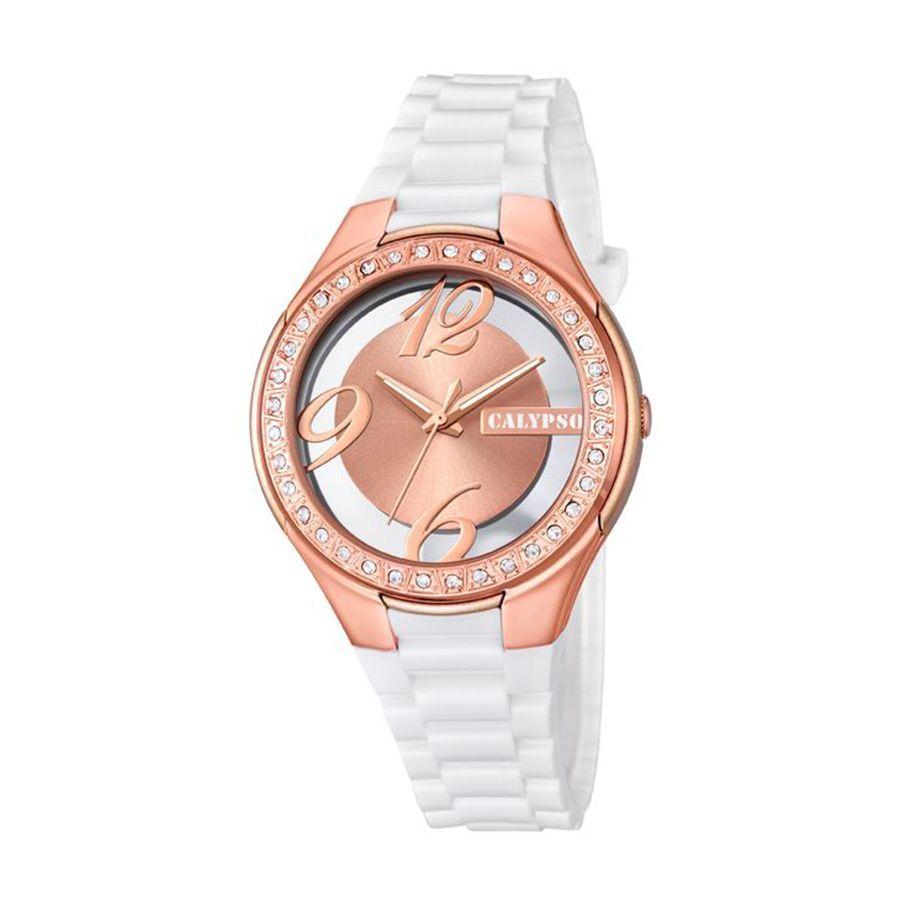 Reloj calypso mujer blanco
